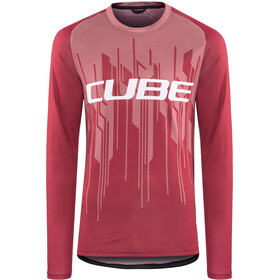 Cube Edge Round Neck Jersey longsleeve Men bordeaux